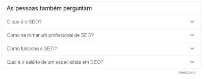 Google perguntas