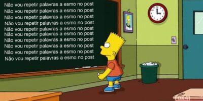 Bart repetindo palavra
